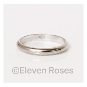 Jewelry - Solid 14k White Gold Wedding Band Stack Ring